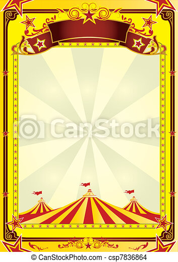Big Top circus flyer - csp7836864