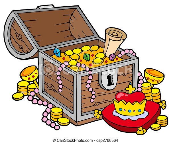 Big treasure chest - csp2788564