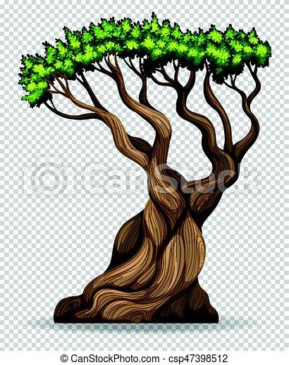 Big Tree On Transparent Background Illustration