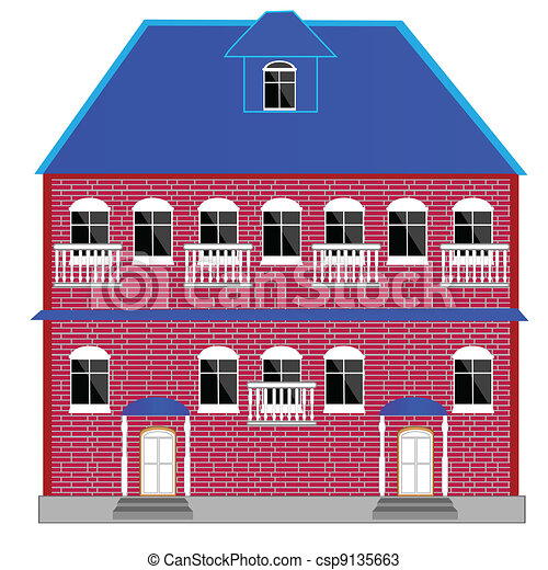 Big two-story mansion - csp9135663