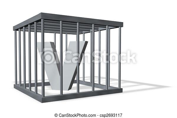 big V in a cage - csp2693117