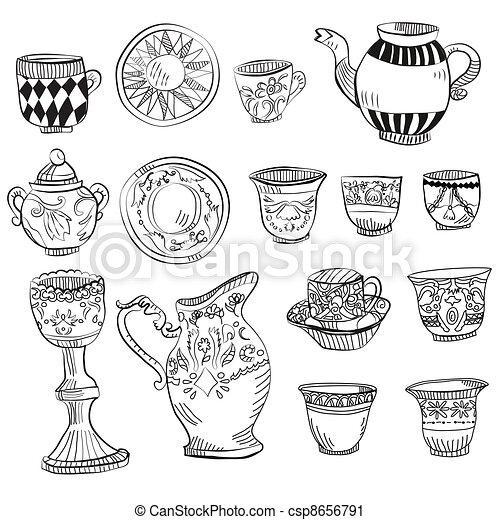 big Victorian tea set - csp8656791