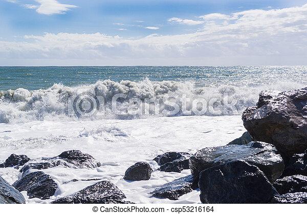 Big waves of the sea - csp53216164