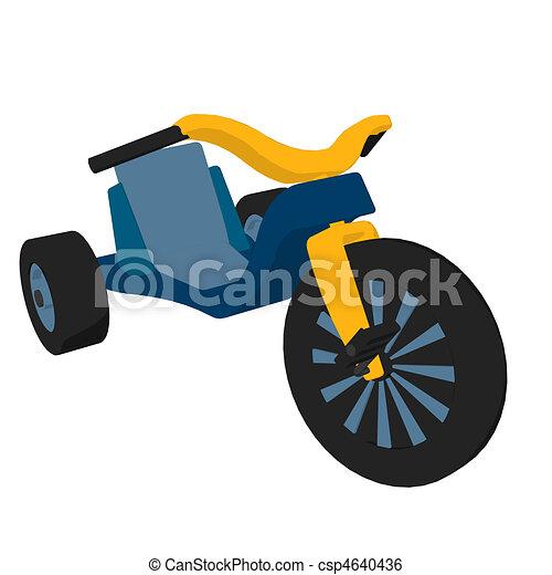 Big Wheel Illustration - csp4640436