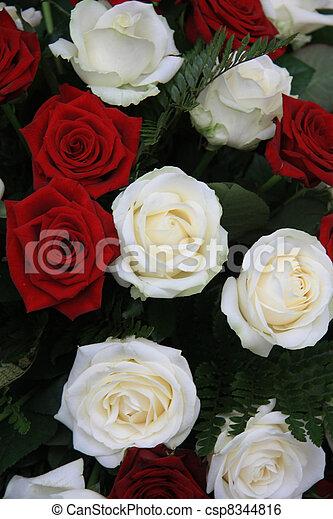 Big white and red rose flower arrangement big red and white roses big white and red rose flower arrangement csp8344816 mightylinksfo