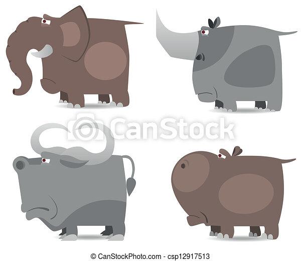 Big wild animals set - csp12917513