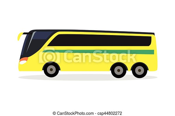 Big Yellow Bus for Transporting Football Team - csp44802272