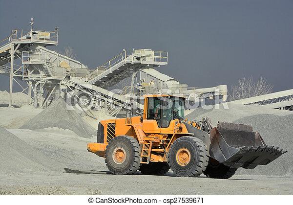 big yellow mining truck - csp27539671