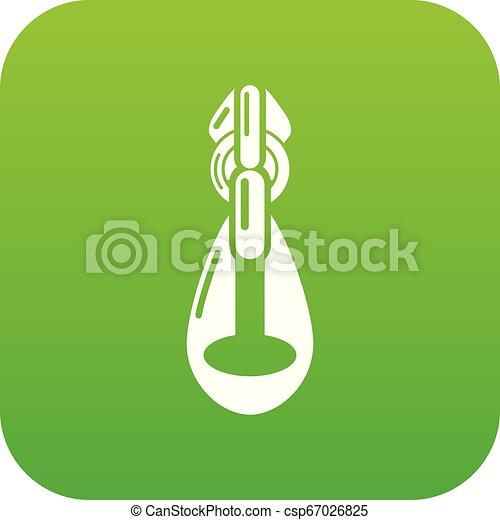 Big zip icon, simple style - csp67026825