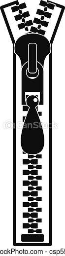 Big zip icon, simple style - csp55018617
