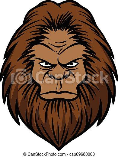 Bigfoot Head - csp69680000