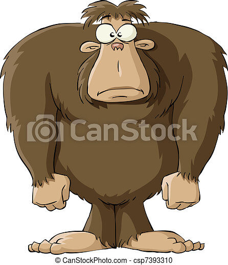 bigfoot on a white background vector illustration rh canstockphoto com bigfoot footprint clipart bigfoot clipart black and white