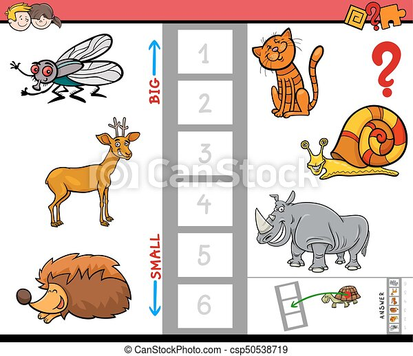 biggest animal educational game for children - csp50538719