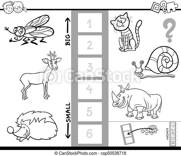 biggest animal game coloring book for kids - csp50538718