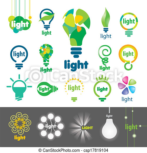 biggest collection of vector logos lamps - csp17819104