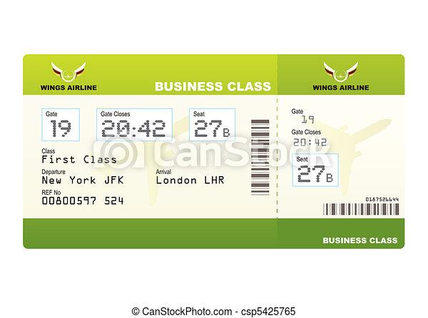 biglietti, aereo, verde, classe, affari - csp5425765