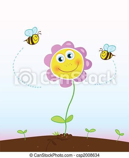 bijtjes, bloem - csp2008634