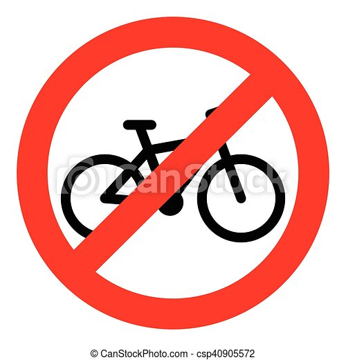 Vectors Illustration Of Bike Ban Sign Bycicle And Bike Isolated