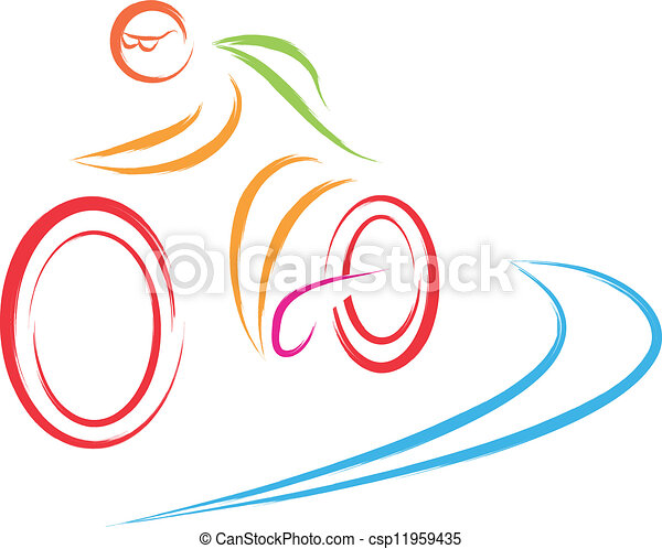 bike cycling logo cycling biker logo vector illustration vectors rh canstockphoto com free vector illustrations software free vector illustrations for commercial use