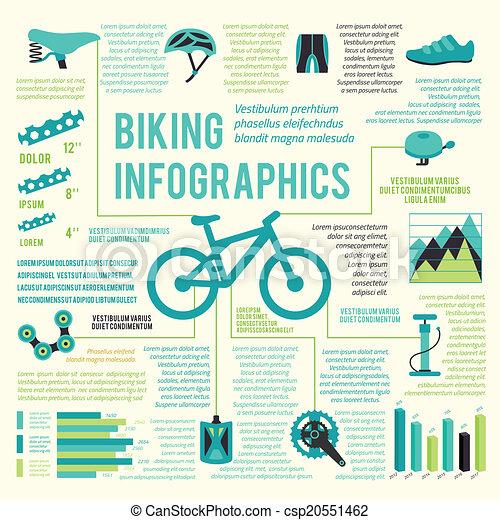 Bike icons infographic - csp20551462
