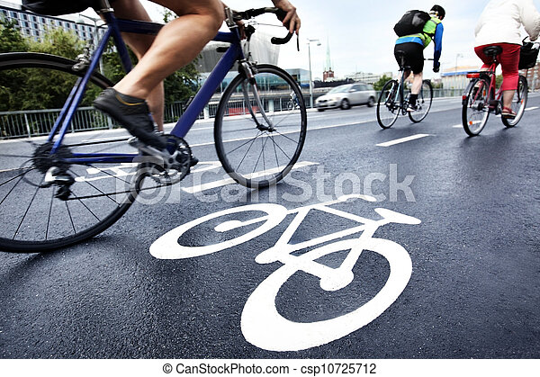 Bike lane - csp10725712