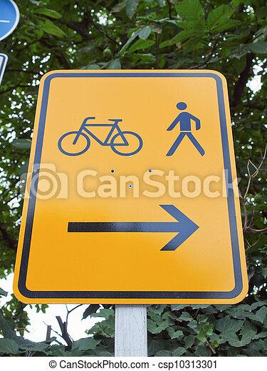 Bike lane sign - csp10313301