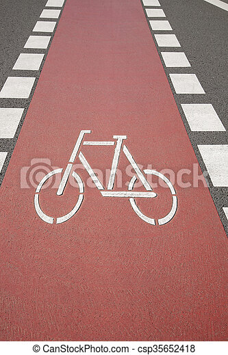 Bike Lane Symbol Bonn Germany