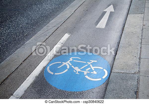 Bike Lane Symbol Vienna Austria