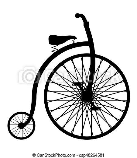 bike old retro vintage icon stock vector illustration - csp48264581