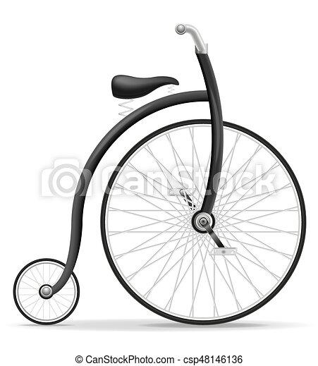 bike old retro vintage icon stock vector illustration - csp48146136