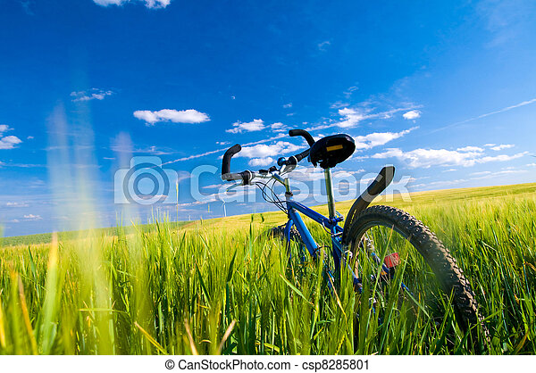 Bike on the field - csp8285801