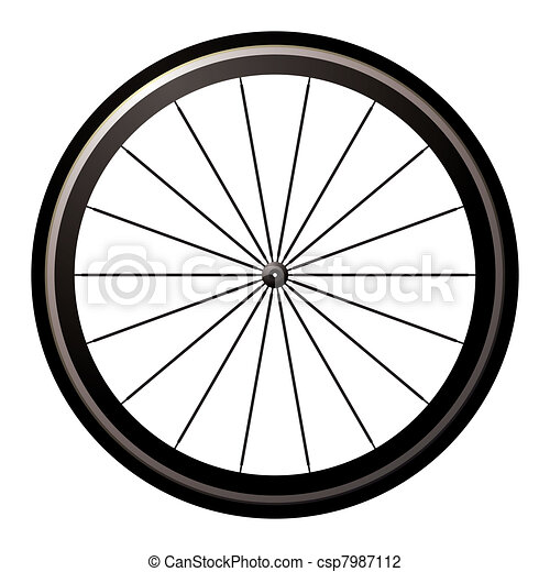 Bike road wheel - csp7987112
