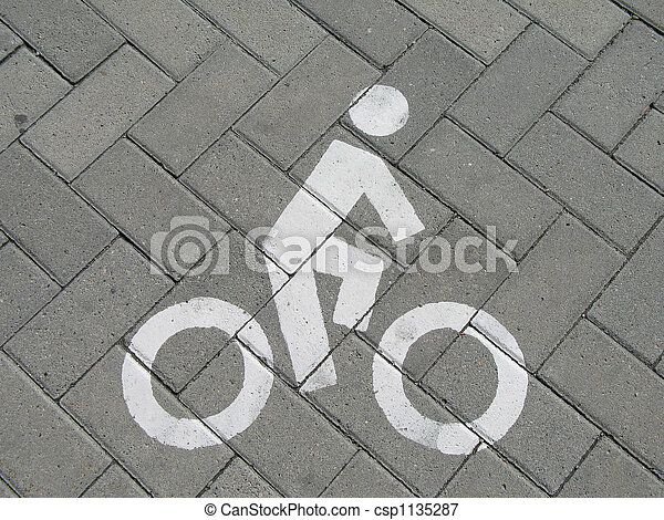bike sign - csp1135287