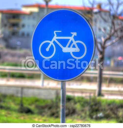 bike sign - csp22780676