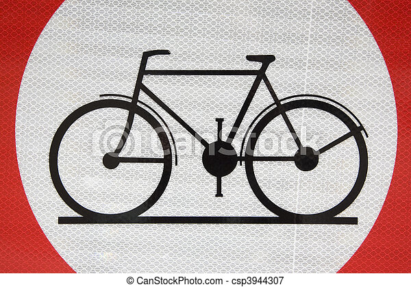 Bike Sign - csp3944307
