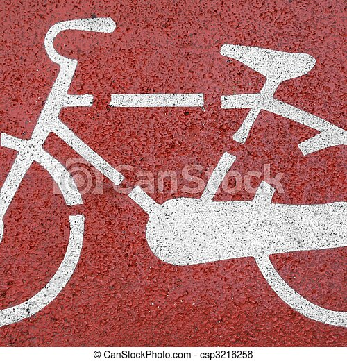 Bike sign - csp3216258