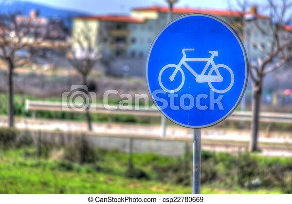bike sign - csp22780669