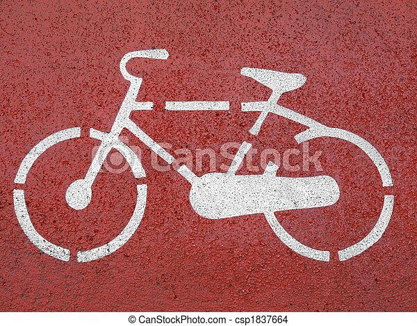 Bike sign - csp1837664