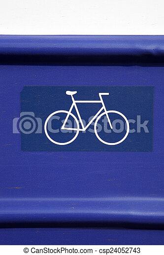 Bike Sign - csp24052743