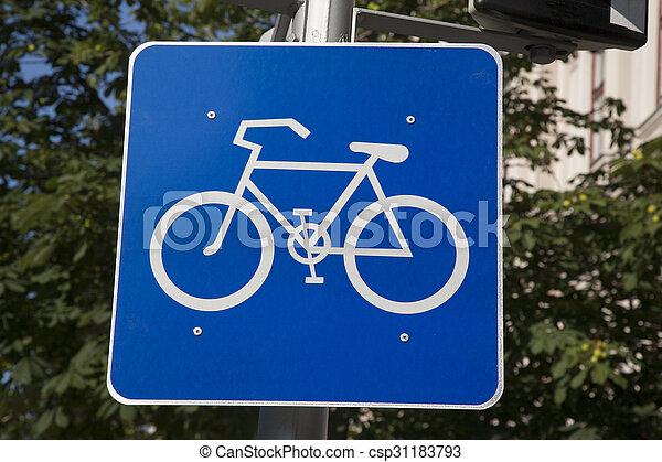 Bike Sign - csp31183793