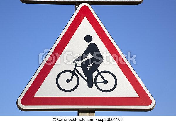 Bike Sign - csp36664103