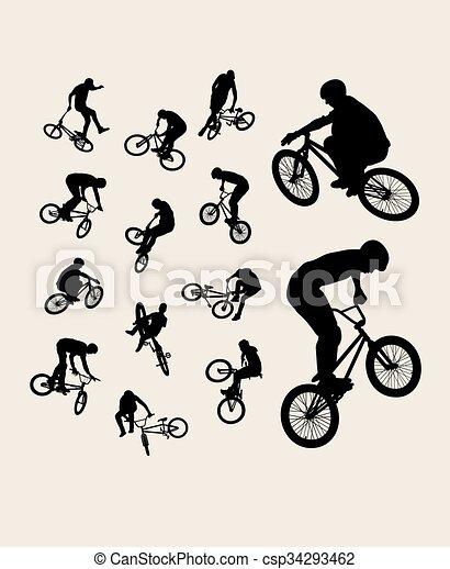 Bike Sport Silhouettes - csp34293462