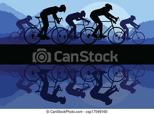 Bike vector background concept - csp17049160