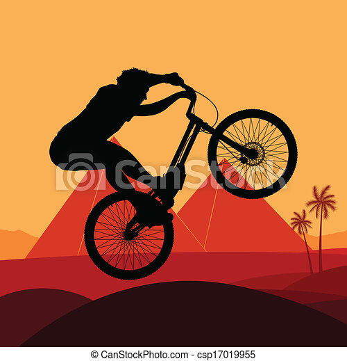 Bike vector background concept - csp17019955
