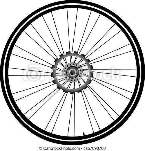 Bike wheel isolated on...