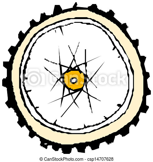 Bike wheel - vector - csp14707628