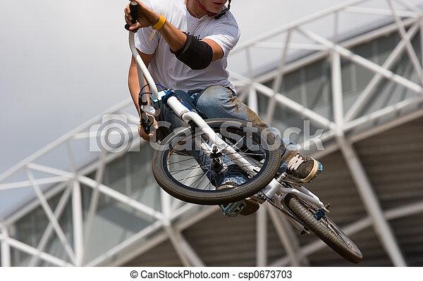 biker Airborne - csp0673703