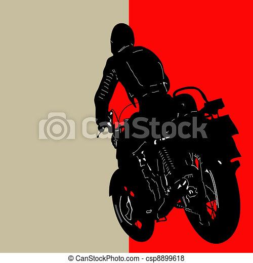 Biker Background - csp8899618