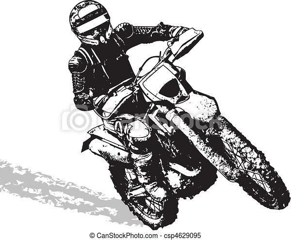 black biker rh canstockphoto com motocross clip art free vector motorcross clip art