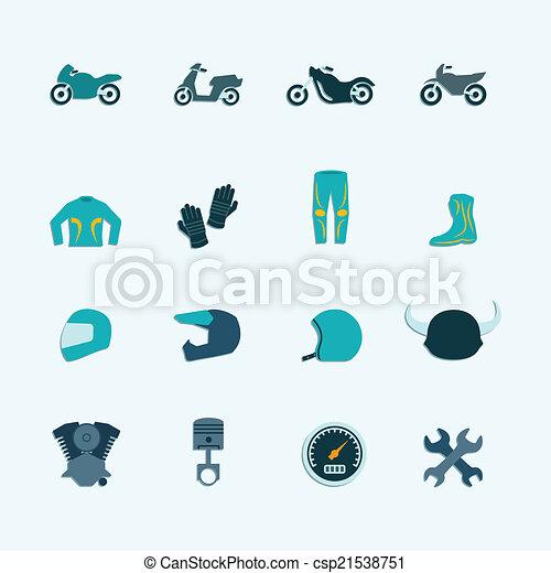Biker icon set - csp21538751